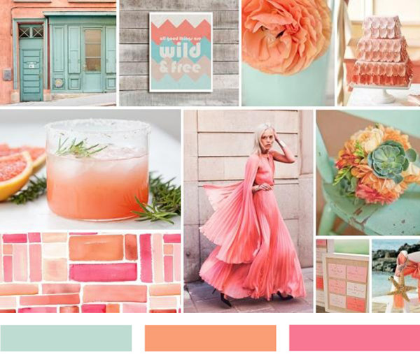 coral and mint wedding ideas