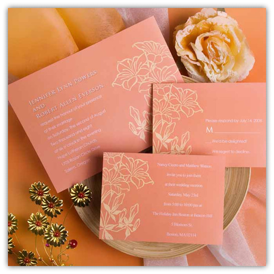 Top 10 Coral Wedding Invitations Elegantweddinginvitescom Blog