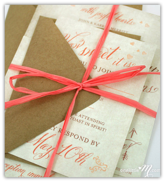 top 10 coral wedding invitations – elegantweddinginvites blog, Wedding invitations