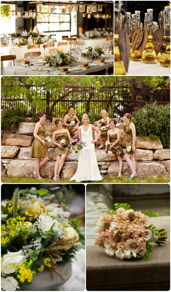fall wedding colors-olive and mocha
