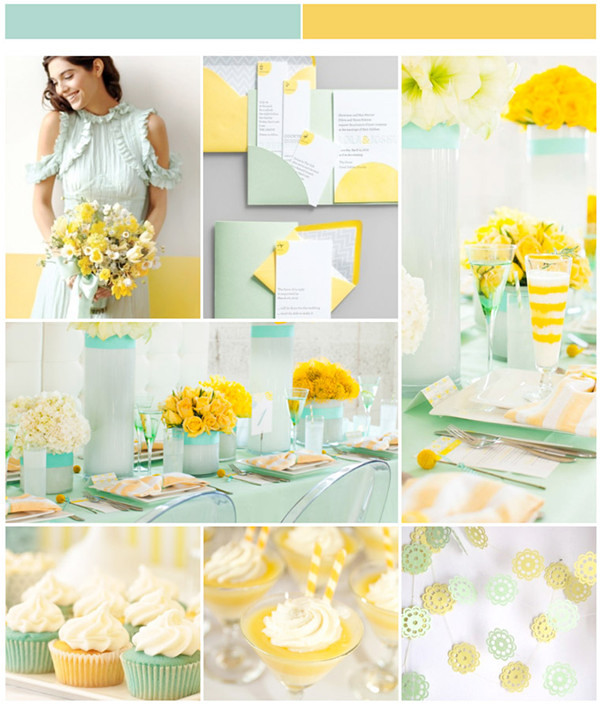 Mint wedding ideas and wedding invitations elegantweddinginvites mint and yellow wedding ideas junglespirit Images
