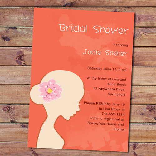 Pink and Coral Bridal Shower Invitations