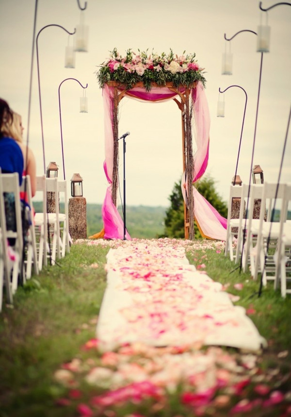 outdoor wedding arch for rustic weddings