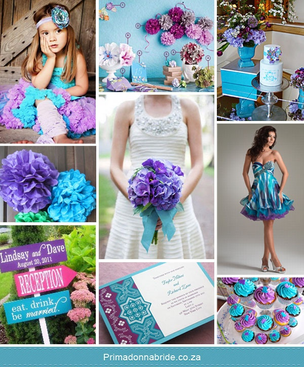 Purple And Blue Wedding Ideas