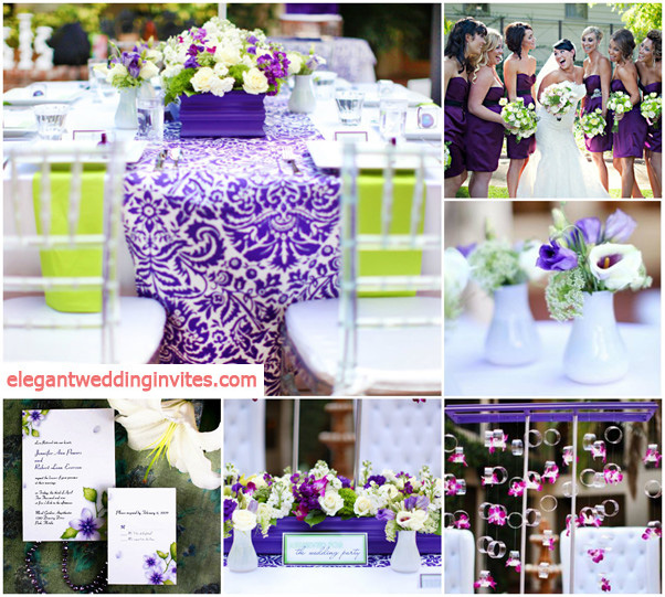 Green Wedding Ideas: Top 5 Color Combination Ideas For Purple Weddings