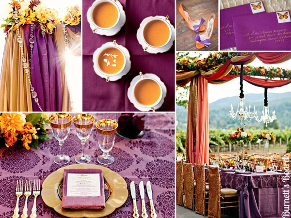 Purple And Orange Wedding
