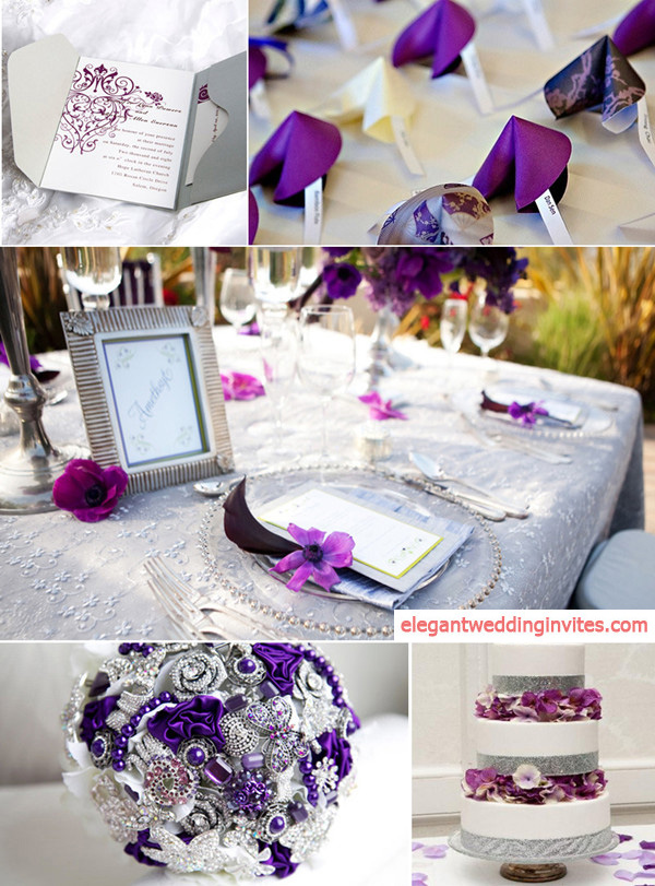 Top 5 Color Combination Ideas for Purple Weddings ...