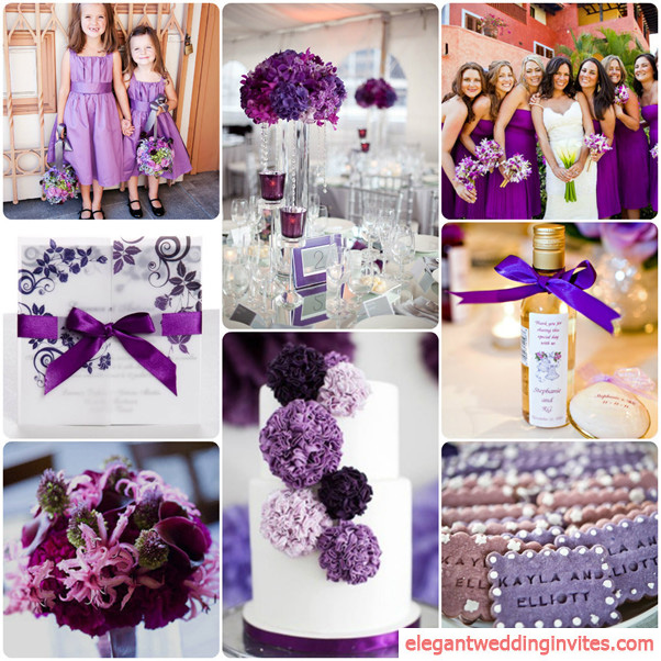 Wedding Ideas By Colour: Top 5 Color Combination Ideas For Purple Weddings