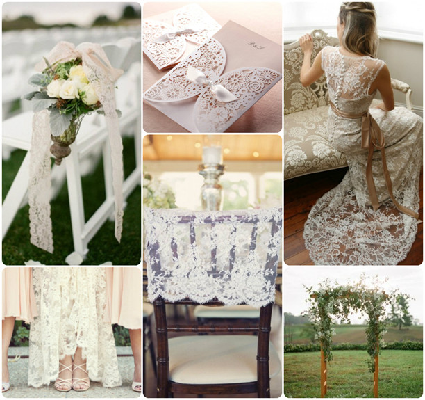 rustic lace wedding ideas
