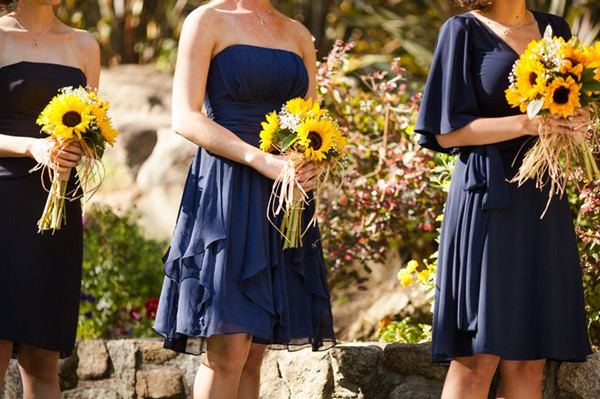 Rustic Sunflower Wedding Bridesmaid Dresses
