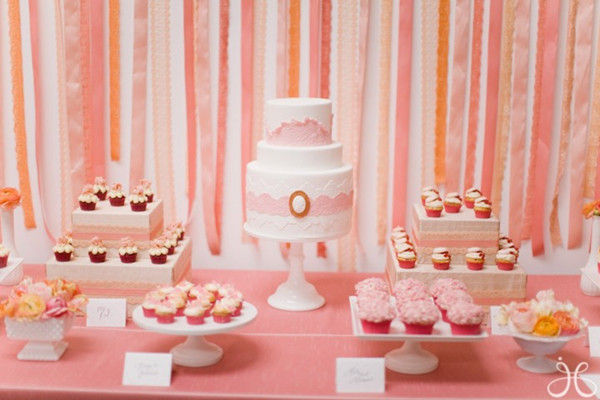 Pink and Coral Bridal Shower