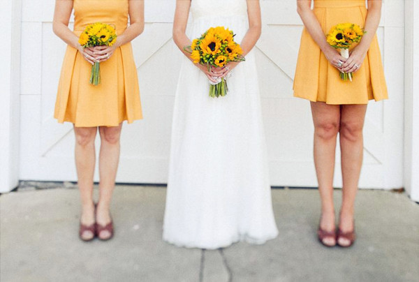 Sunflower Wedding Bridesmaid Dresses