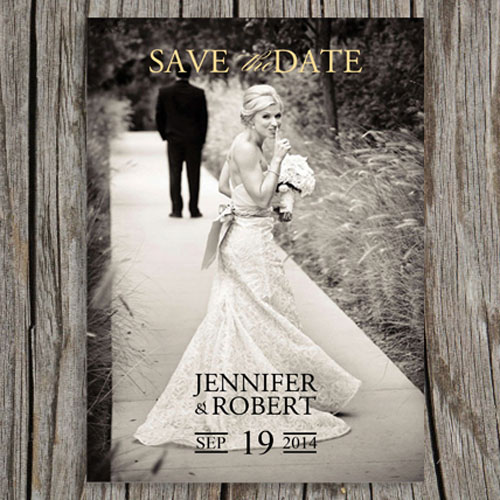 Vintage Photo Save the Date Cards