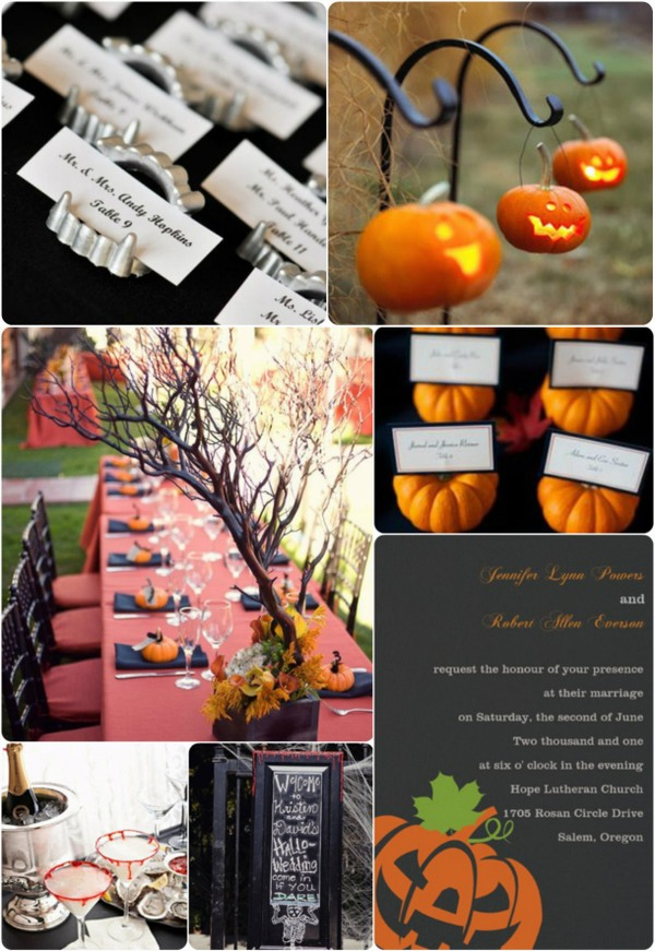 2013 halloween wedding invitations and wedding ideas for fall