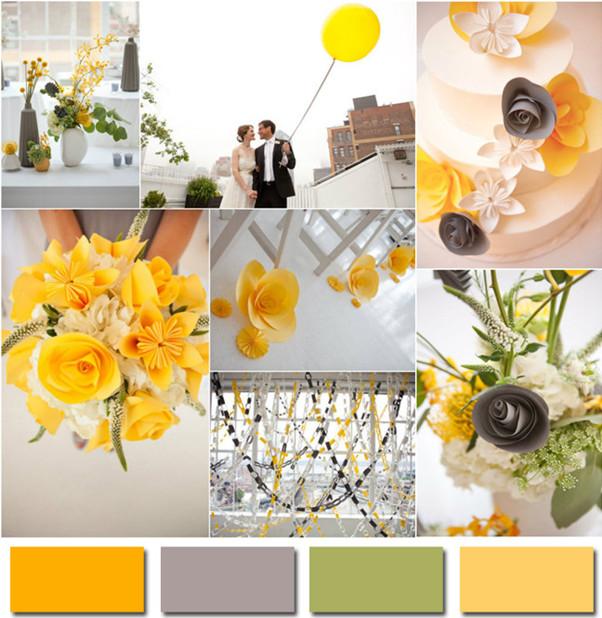 2017 Gray And Yellow Color Trends Wedding Ideas