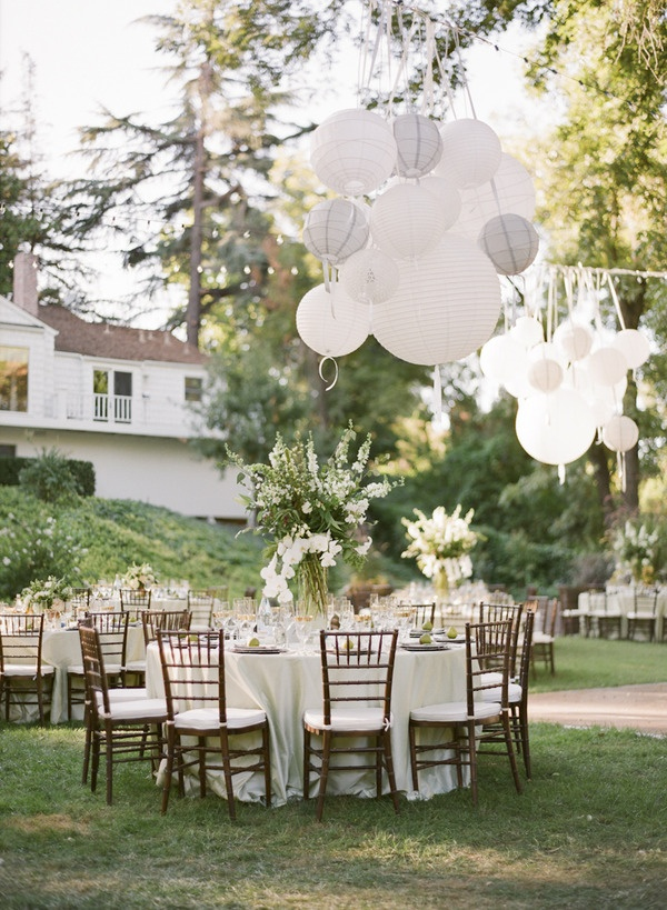 Merveilleux 2014 Trends All White Rustic Diy Backyard Wedding Receptions Ideas With  Ballons