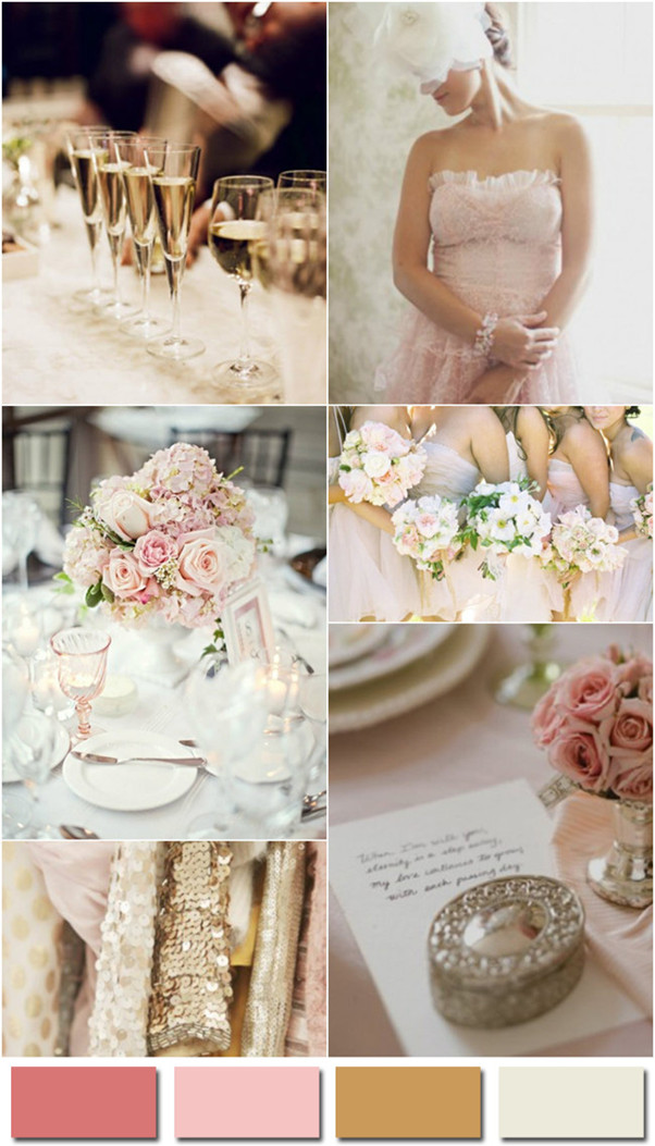 2014 wedding color trends blush champagne and ivory for vintage and romantic weddings