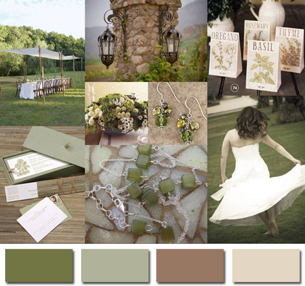 2014 wedding color trends neutral for country rustic weddings