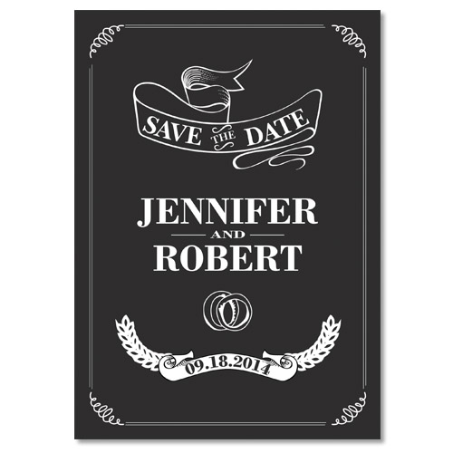 affordable simple vintage save the date cards for black and white weddings