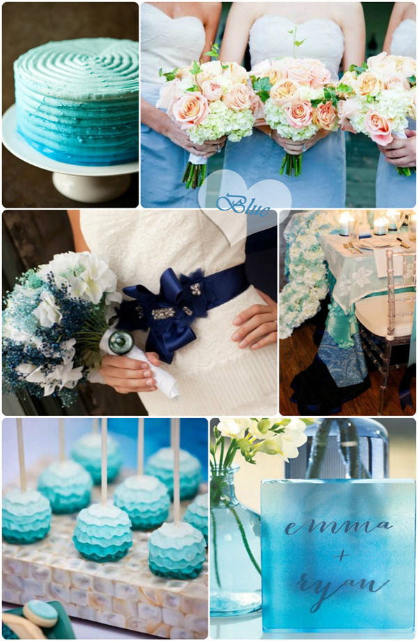 Blue Ombre Wedding Trends Ideas