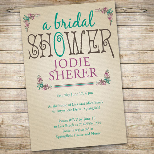 Affordable Vintage Bridal Shower Invitations Ewbs040 As Low 0 94 Laser Cut Wedding