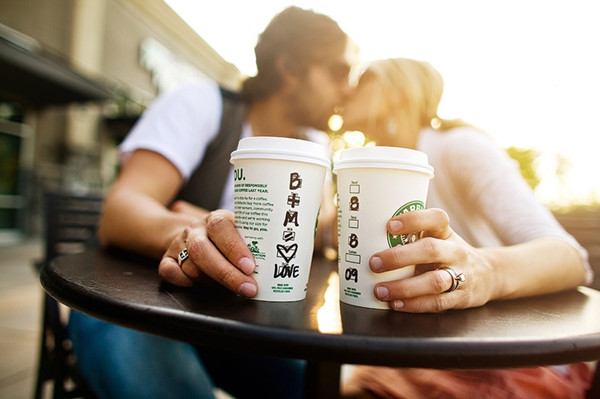 creative starbucks save the date ideas
