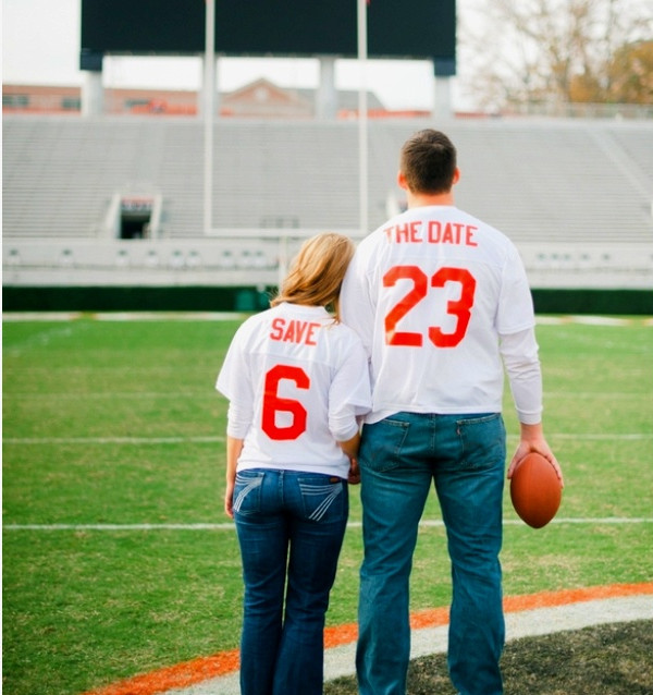 diy save the date ideas sport theme