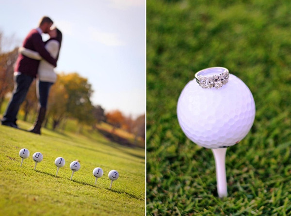 diy wedding ideas to save the date with golf
