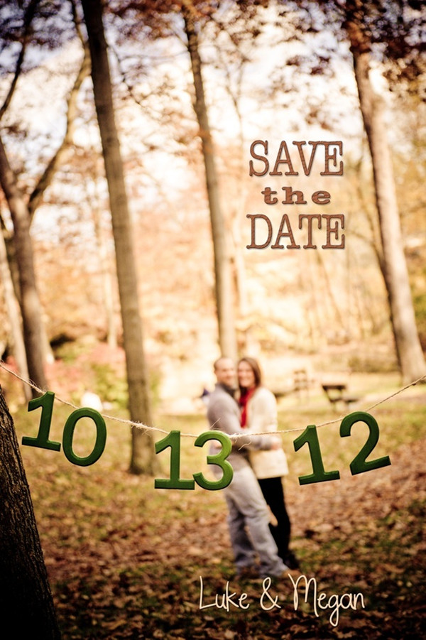 diy wedding save the date ideas