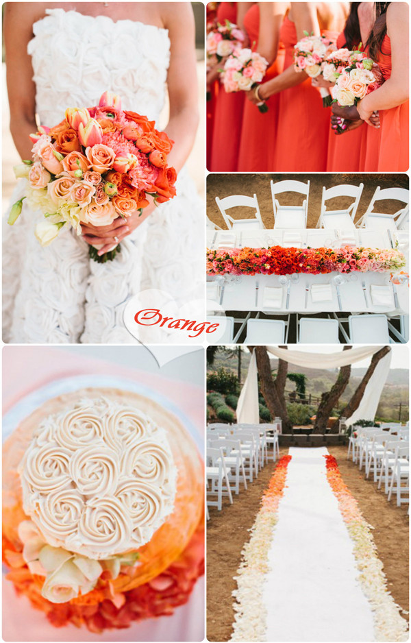 fall orange ombre wedding ideas