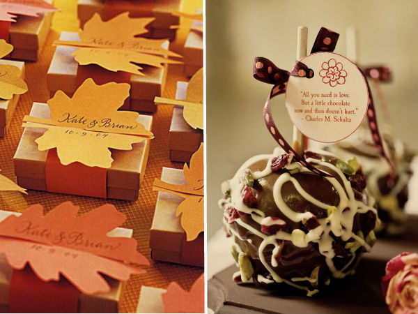 fall wedding favor ideas 2014 2015