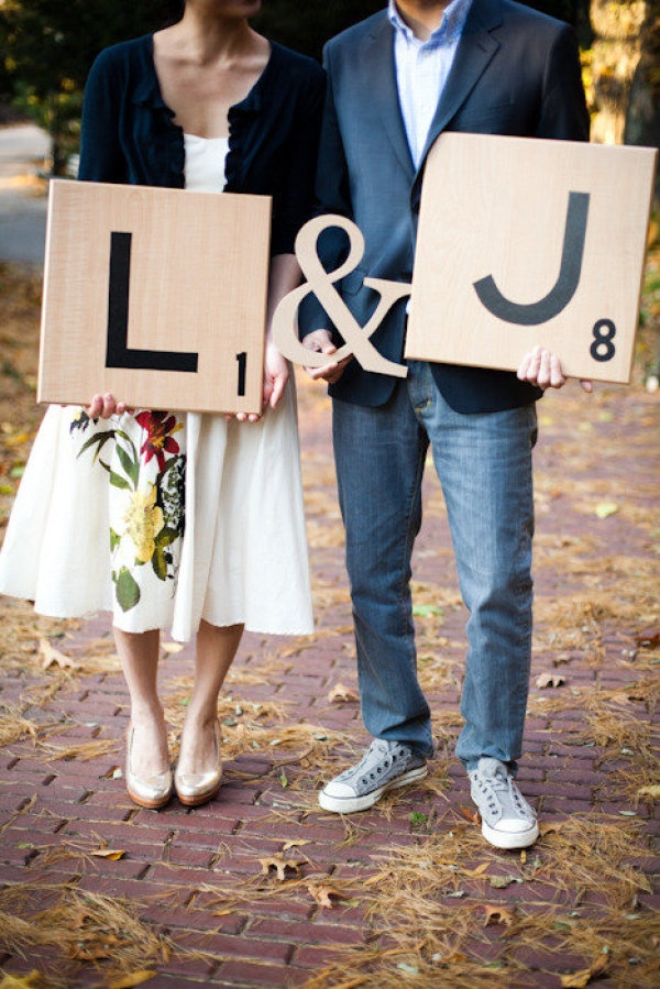 giant scrabble letters save the date