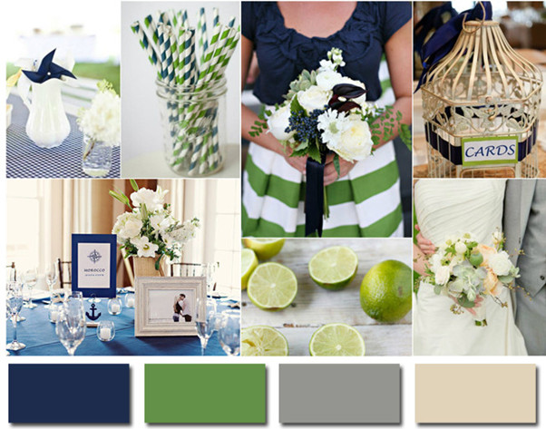 navy blue and lime green wedding ideas 2014 wedding colors