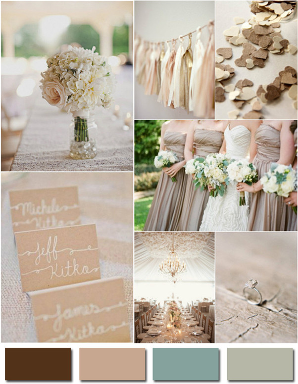 neutral colors ideas for 2014 trend country rustic weddings