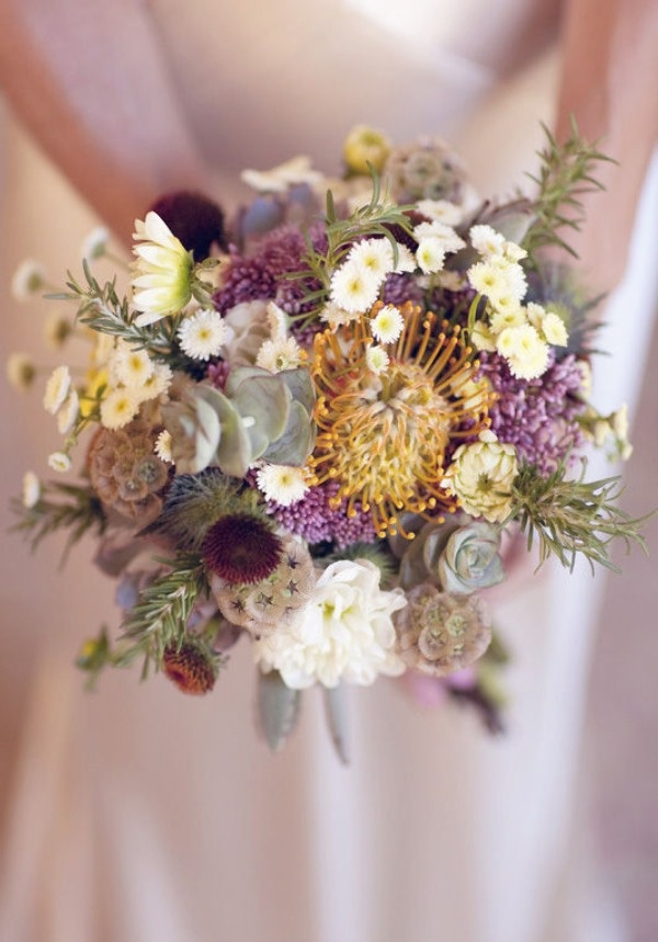 olive and lavender 2013 fall wedding bouquets ideas