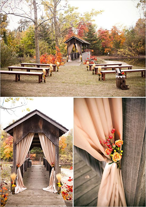 outdoor fall wedding ceremony decoration ideas 2013