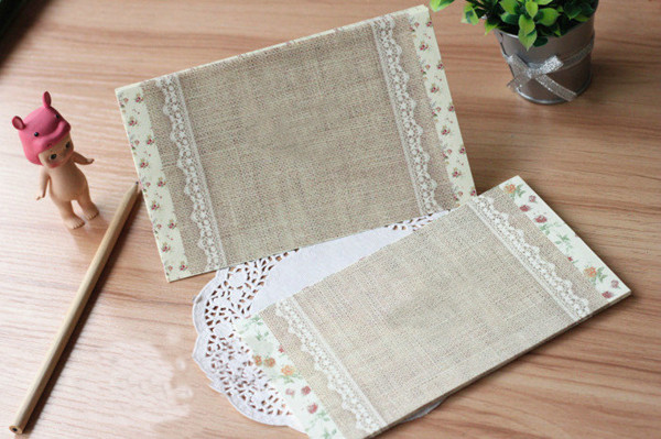 paris rustic lace and burlap wedding invitations decorated with floral 2014 trends