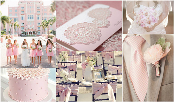 pink lace wedding invitations set the tone for gorgeous pink theme weddings