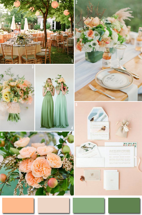 Fabulous wedding colors 2014 wedding trends part 3 pink peach and green 2014 popular wedding color ideas junglespirit Gallery