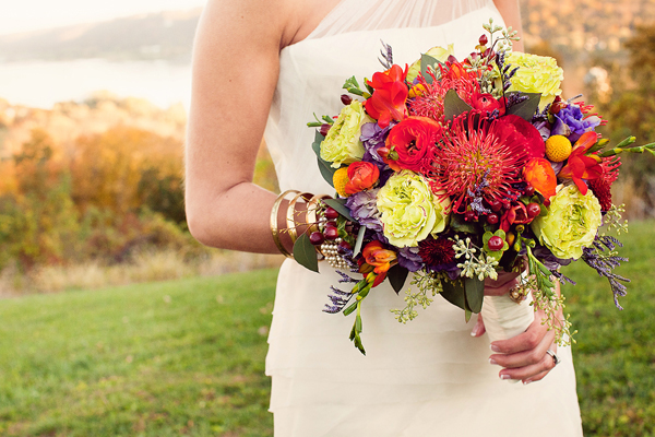 red orange and olive fall wedding flowers 2013 trends