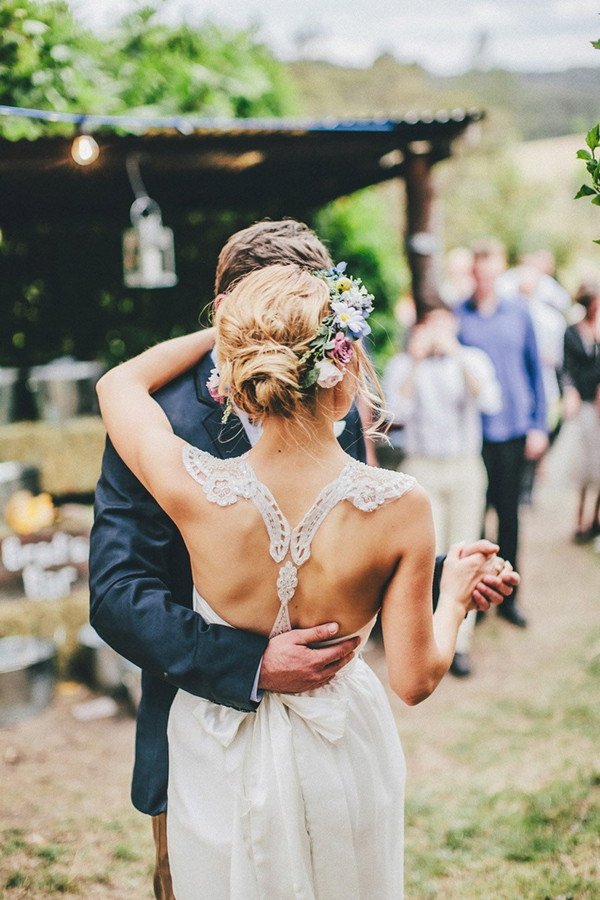 rustic ombre wedding ideas