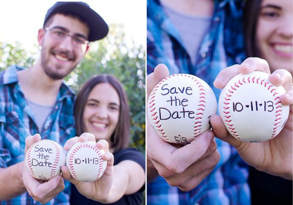 unique save the date ideas with baseball