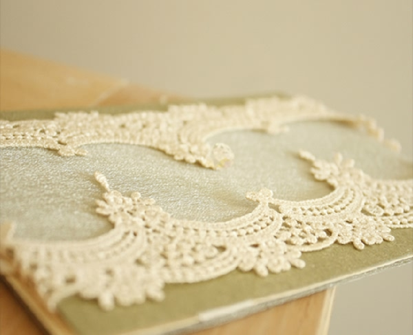 vintage luxury folded lace wedding invites for rustic weddings