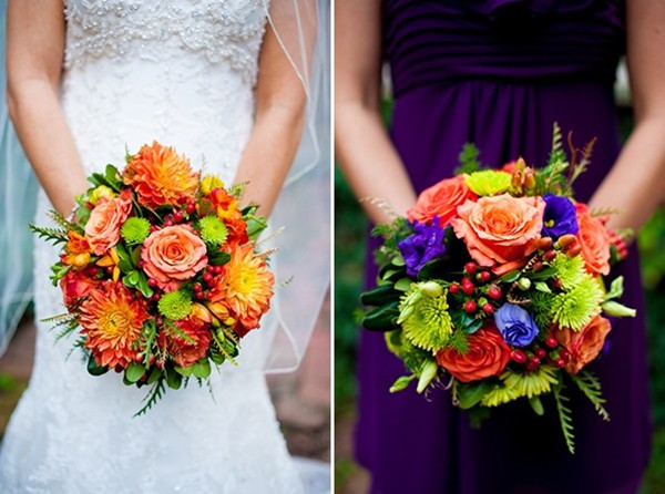 wedding fall 2013 purple and orange inspirations