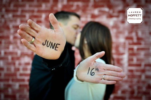 write on hands save the date ideas