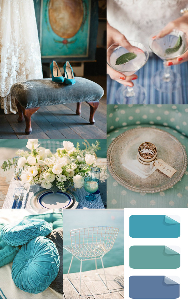 fabulous watery blue summer or beach wedding ideas for 2014