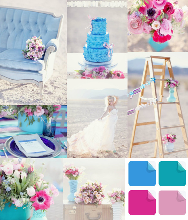 Wedding Ideas By Colour: Latest Wedding Color Trends-Blue Wedding Ideas And