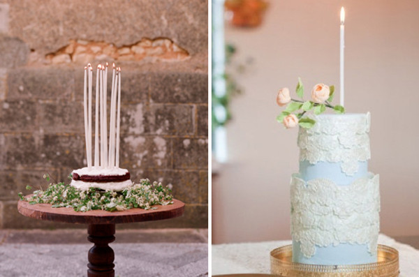 New Wedding Trends For Cakes With Candle Toppers