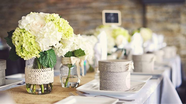 rustic burlap and lace bridal shower centerpieces ideas for 20132014