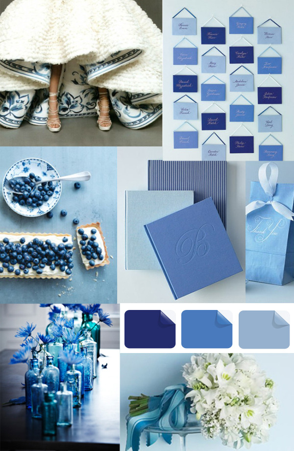 Latest Wedding Color Trends-Blue Wedding Ideas and Invitations ...